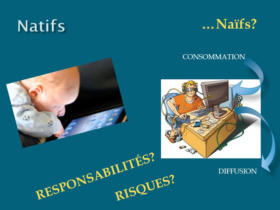 CONSOMMATION DIFFUSION …Naïfs? RESPONSABILITÉS? RISQUES?