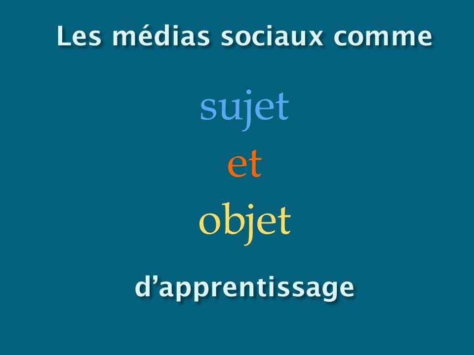 Les médias sociaux comme sujet et objetdapprentissage