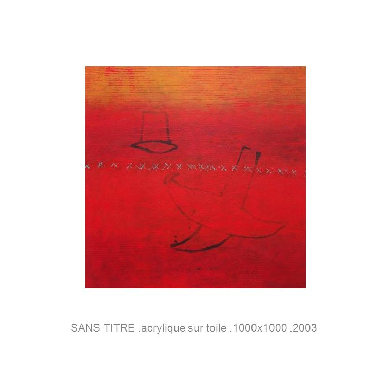 SANS TITRE.acrylique sur toile.1000x1000.2003