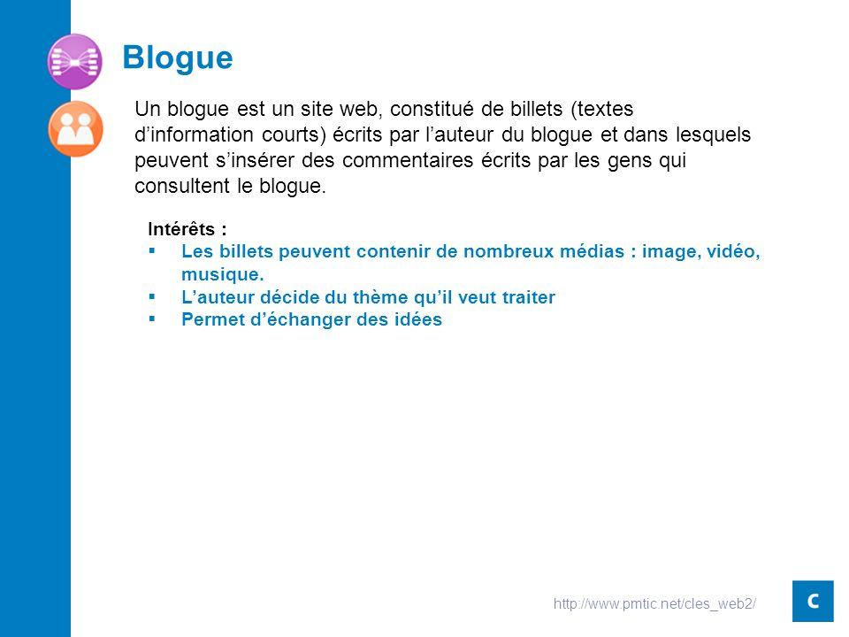 Blogue Intérêts : Les billets peuvent contenir de nombreux médias : image, vidéo, musique.