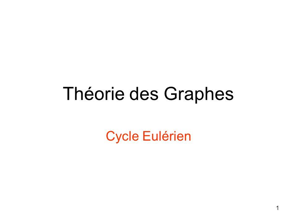 1 Théorie des Graphes Cycle Eulérien