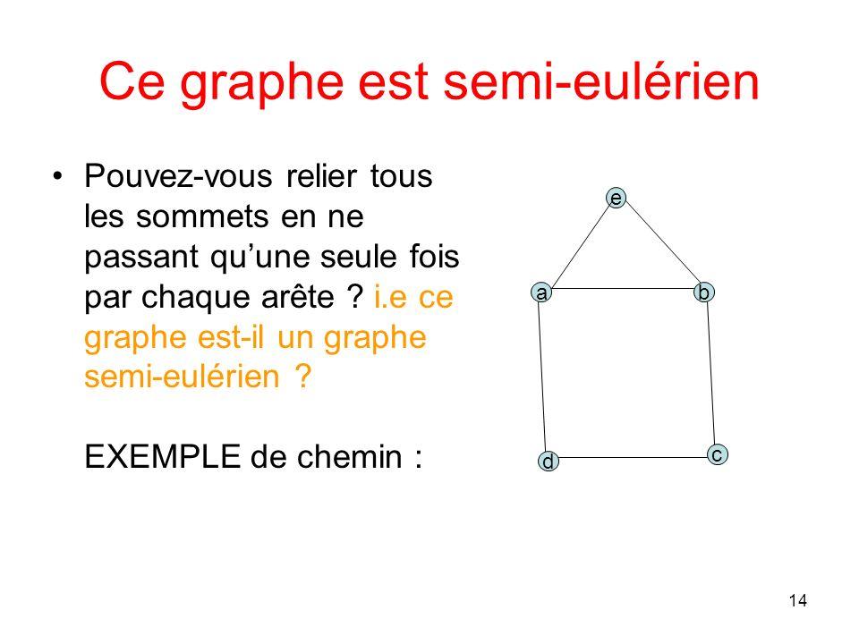 14 Ce graphe est semi-eulérien Pouvez-vous relier tous les sommets en ne passant quune seule fois par chaque arête .