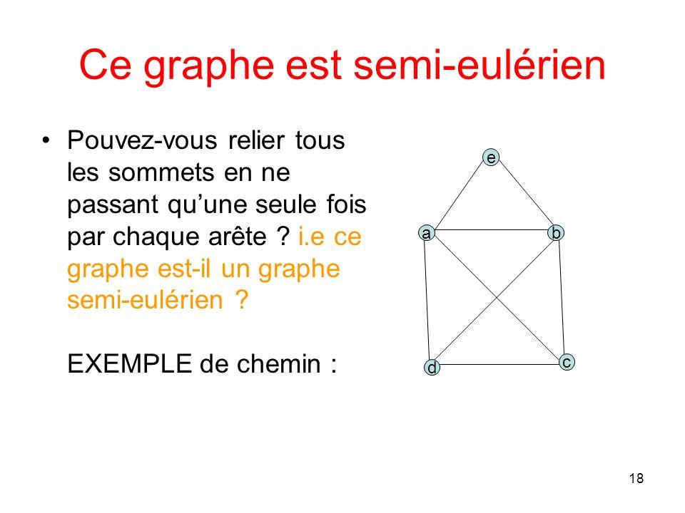 18 Ce graphe est semi-eulérien Pouvez-vous relier tous les sommets en ne passant quune seule fois par chaque arête .