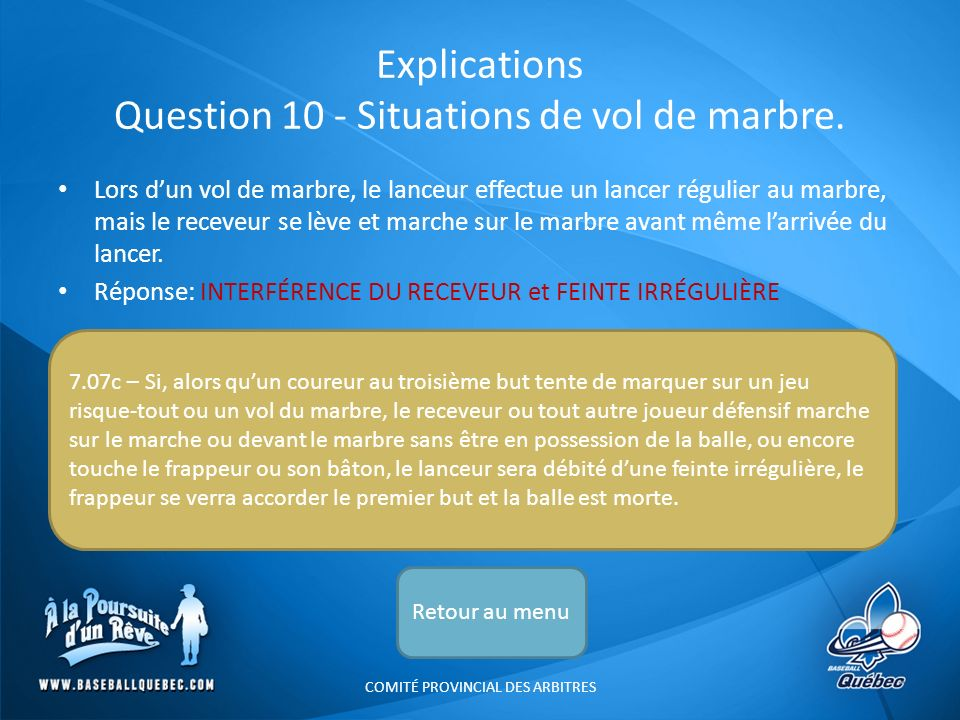 Explications Question 10 - Situations de vol de marbre.