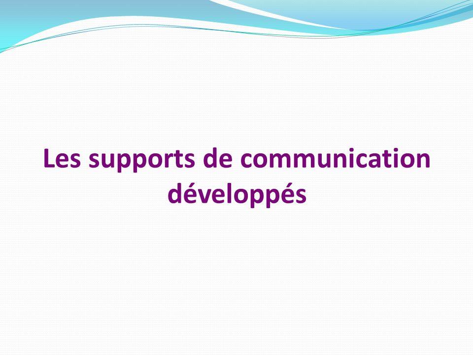 Les supports de communication développés