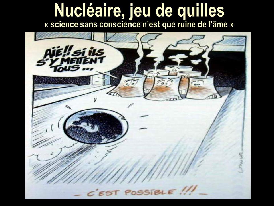 Nucléaire, jeu de quilles. « science sans conscience nest que ruine de lâme »