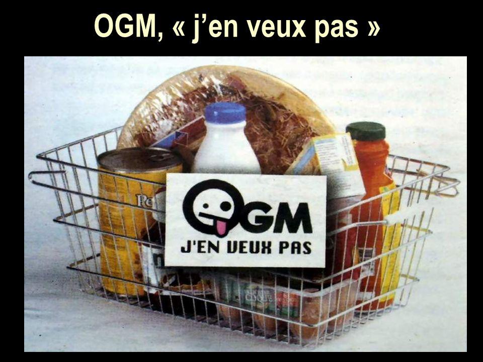 OGM, « jen veux pas »