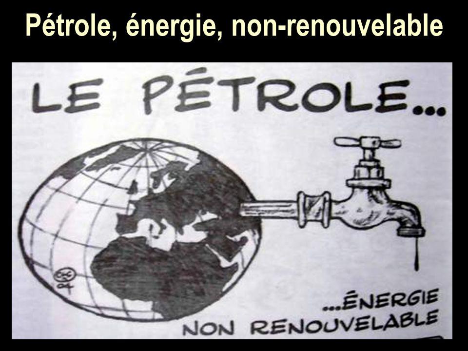 Pétrole, énergie, non-renouvelable