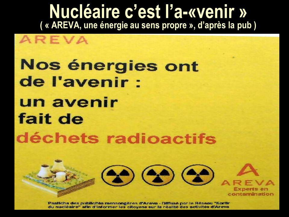 Nucléaire cest la-«venir » ( « AREVA, une énergie au sens propre », daprès la pub )