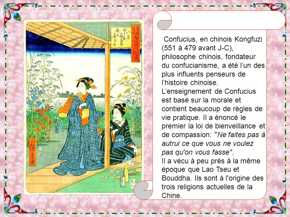 Ando Hiroshige Confucius Que les puristes me pardonnent de mélanger ainsi la Chine et le Japon.