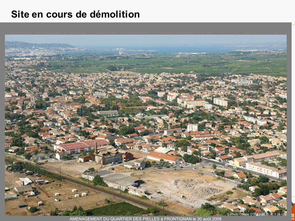 Site en cours de démolition