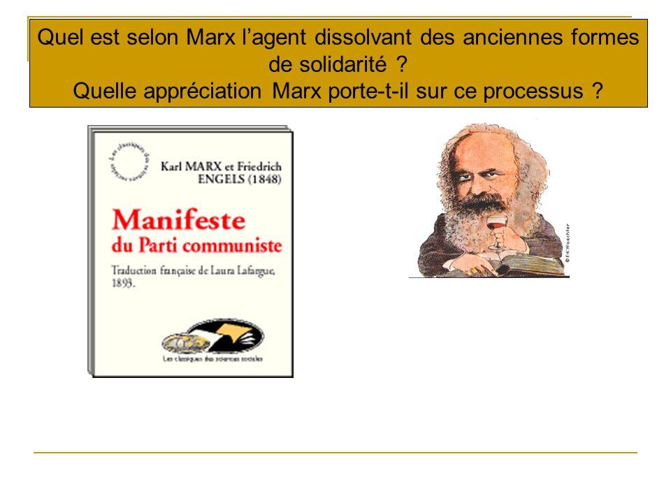 La dissolution de la « sociabilité primaire » La bourgeoisie a joué dans l histoire un rôle éminemment révolutionnaire.