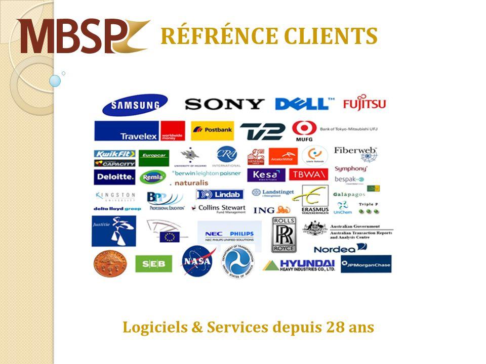 RÉFRÉNCE CLIENTS Logiciels & Services depuis 28 ans