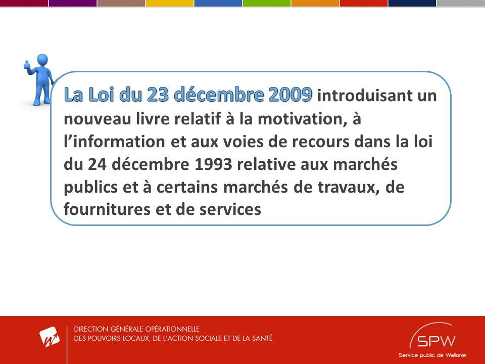 I.Les marchés de travaux importants (Art.65/30 al.