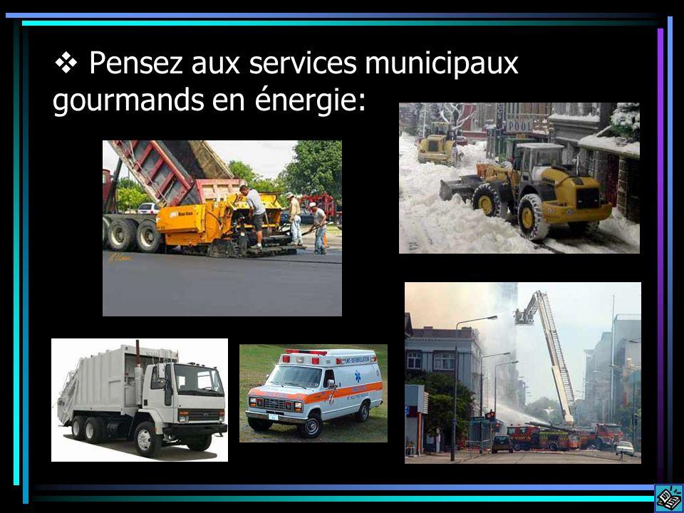 Pensez aux services municipaux gourmands en énergie: