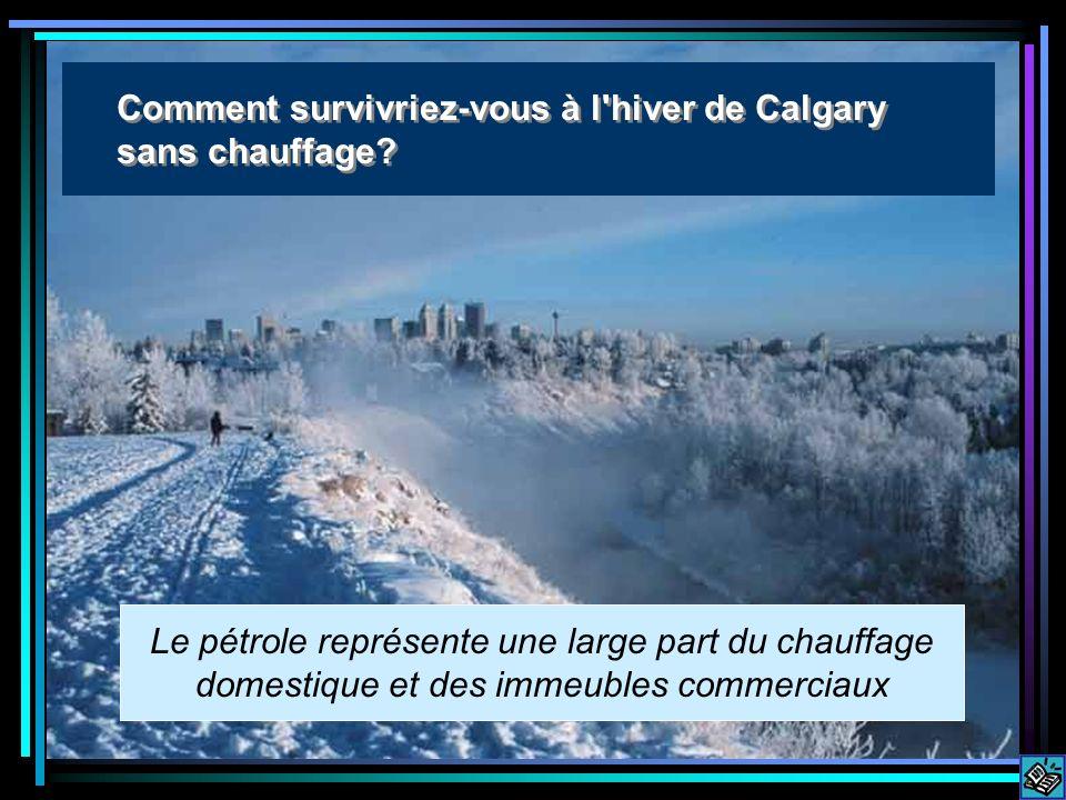 Calgary winter Le pétrole représente une large part du chauffage domestique et des immeubles commerciaux Comment survivriez-vous à l hiver de Calgary sans chauffage