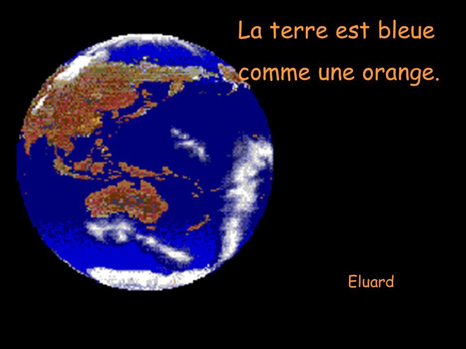Eluard La terre est bleue comme une orange.