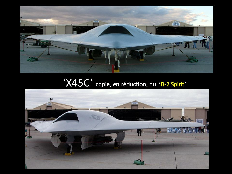 X45C copie, en réduction, du B-2 Spirit