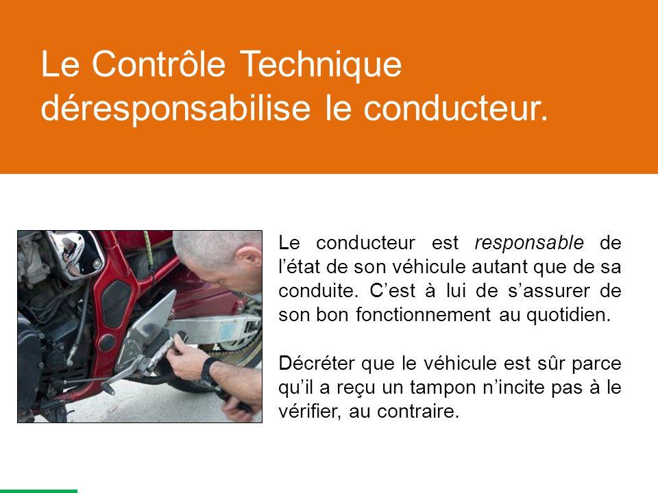 Le Contrôle Technique déresponsabilise le conducteur.