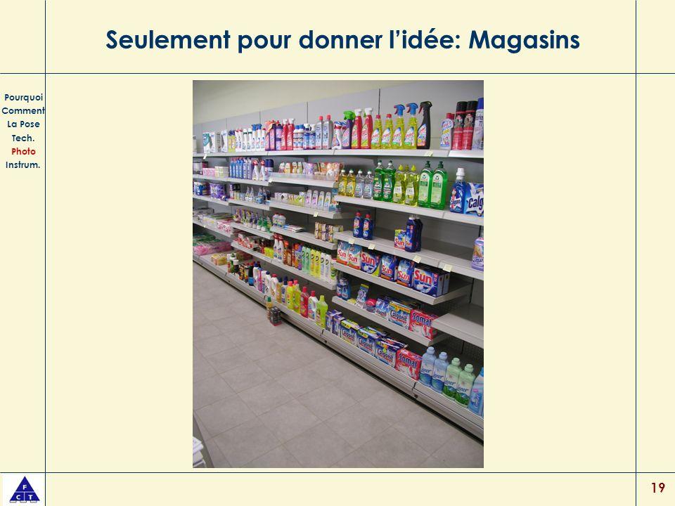 19 Seulement pour donner lidée: Magasins Pourquoi Comment La Pose Tech. Photo Instrum.