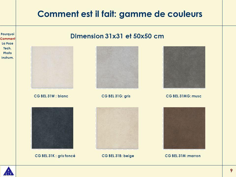 9 Comment est il fait: gamme de couleurs Pourquoi Comment La Pose Tech.