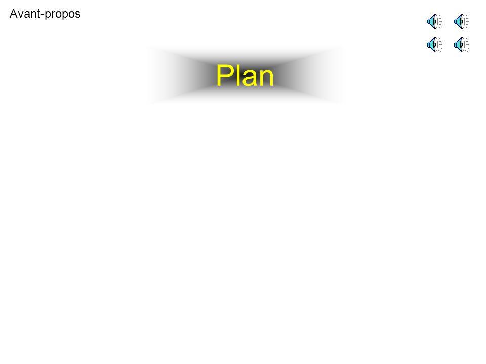 Plan Avant-propos