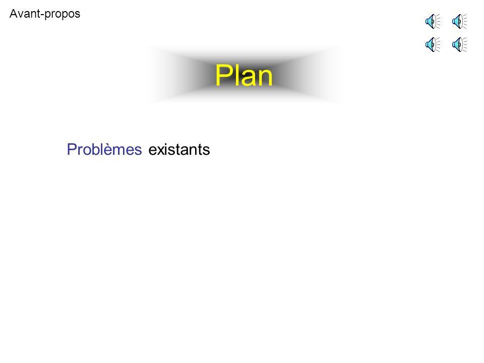Plan Avant-propos Problèmes existants