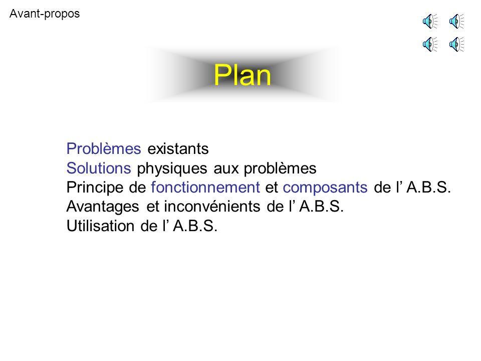 Questions Solutions Deux questions se posent dès lors : Comment savoir que les roues sont sur le point de se bloquer .