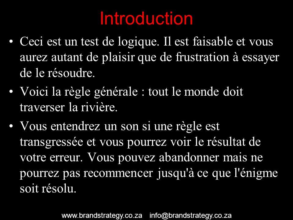 Introduction Ceci est un test de logique.