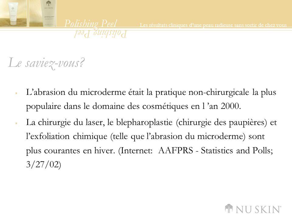 Polishing Peel Les résultats cliniques dune peau radieuse sans sortir de chez vous Polishing Peel Le saviez-vous.