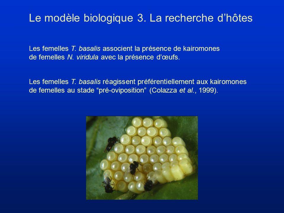 Les femelles T. basalis associent la présence de kairomones de femelles N.