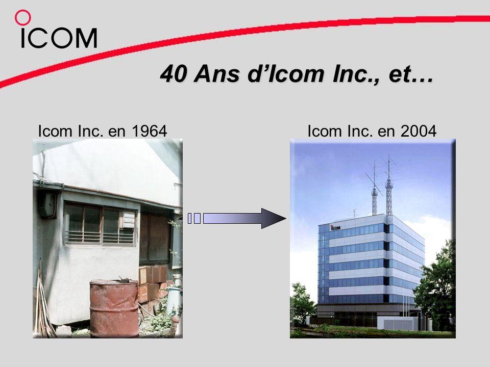 40 Ans dIcom Inc., et… Icom Inc. en 1964Icom Inc. en 2004