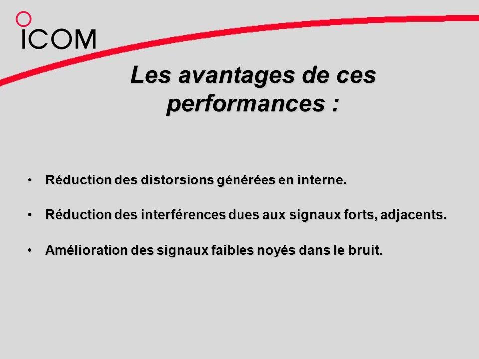 Les avantages de ces performances : Réduction des distorsions générées en interne.Réduction des distorsions générées en interne.