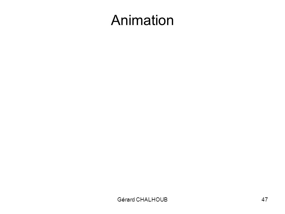 Gérard CHALHOUB47 Animation