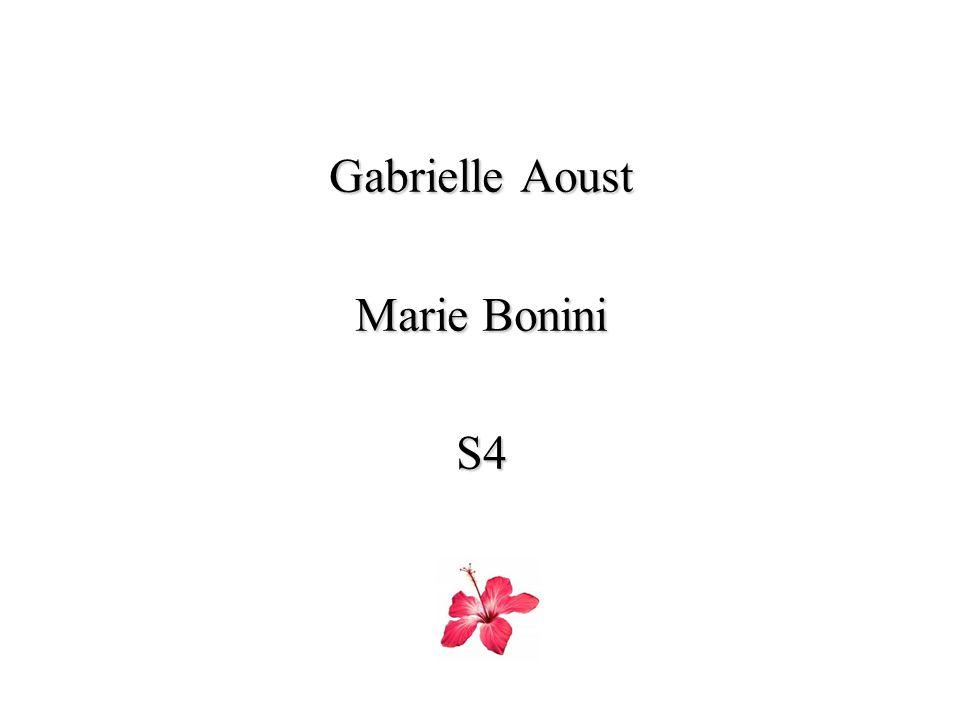 Gabrielle Aoust Marie Bonini S4