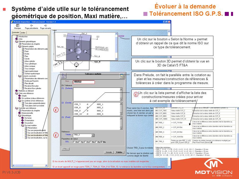 PI V6.3-JCB Évoluer à la demande Tolérancement ISO G.P.S.