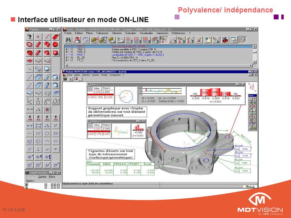 PI V6.3-JCB Palpage «à la volée» en auto-apprentissage avec visualisation simultanée des écarts et contrôle en auto scanning en C.N.