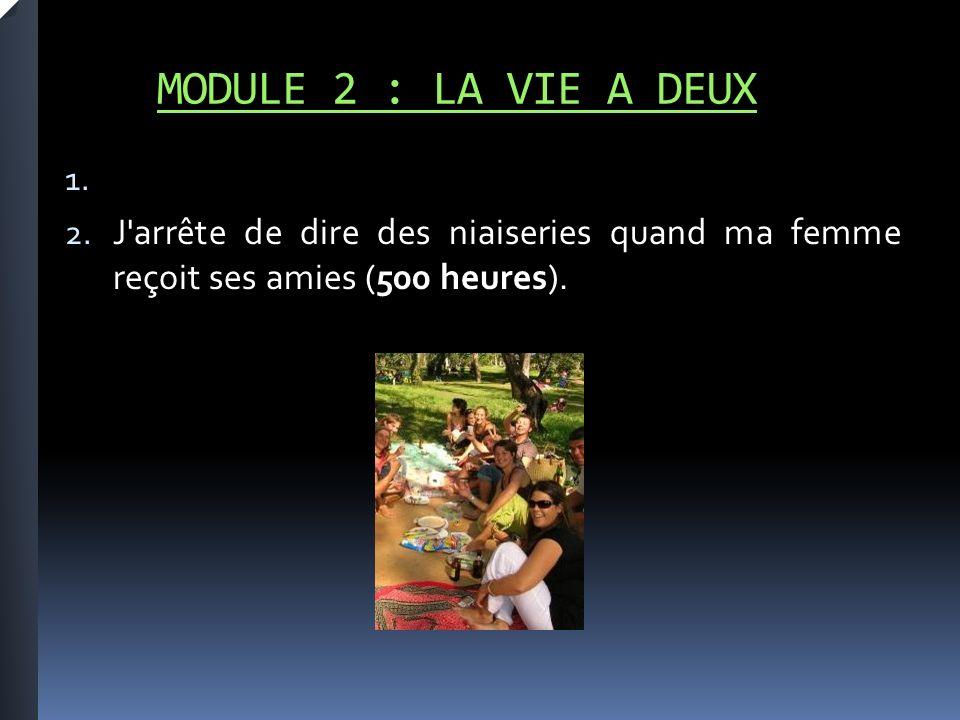 MODULE 2 : LA VIE A DEUX 1. 2.