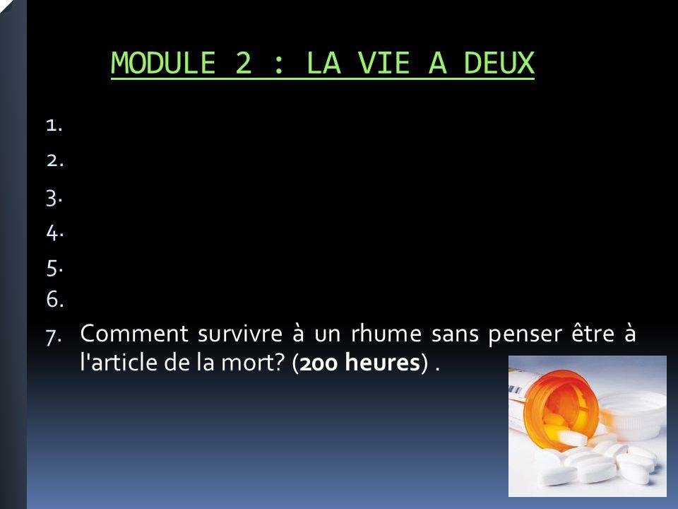 MODULE 2 : LA VIE A DEUX 1. 2. 3. 4. 5. 6. 7.