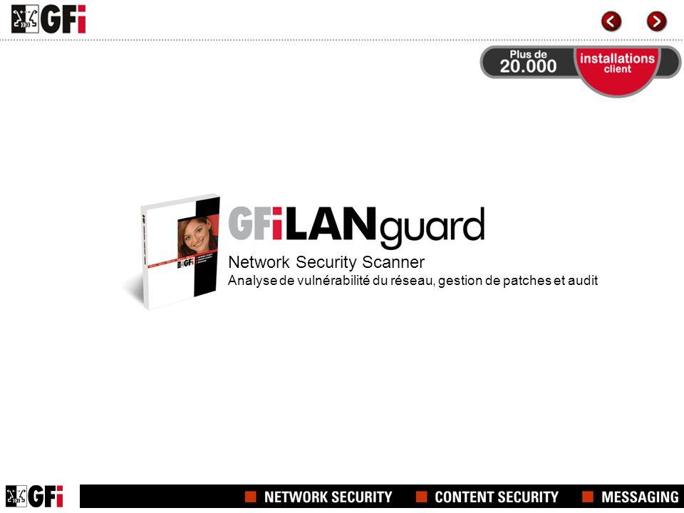 Network Security Scanner Analyse de vulnérabilité du réseau, gestion de patches et audit