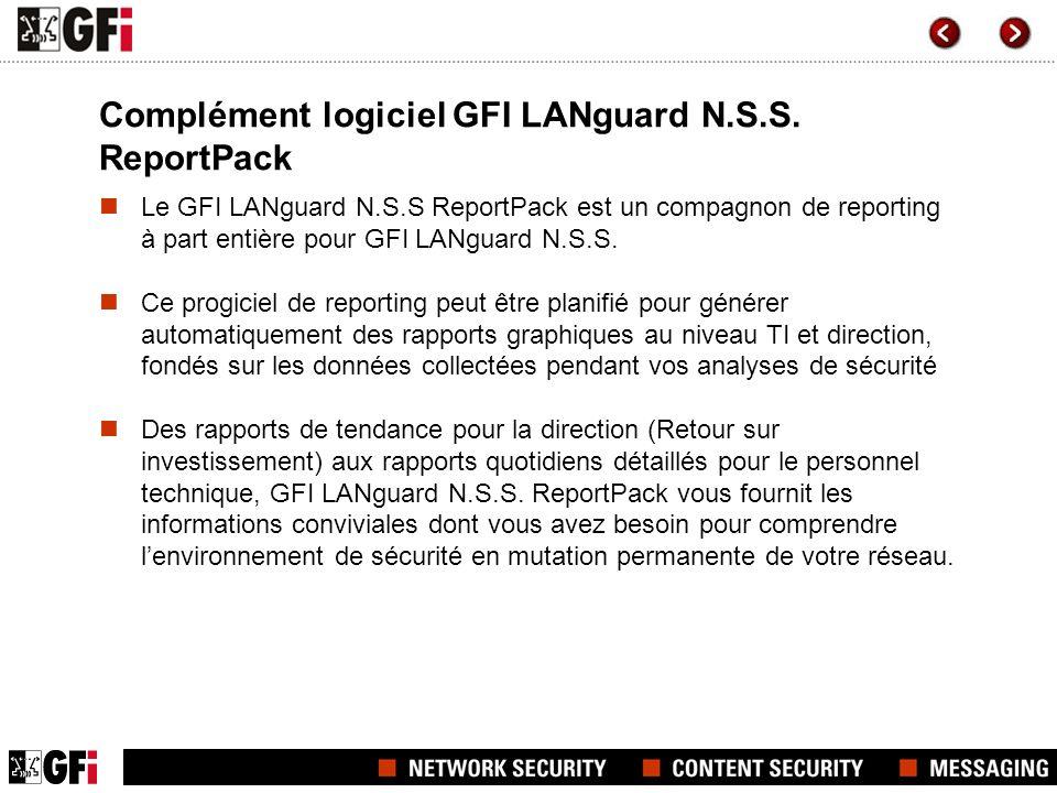 Complément logiciel GFI LANguard N.S.S.