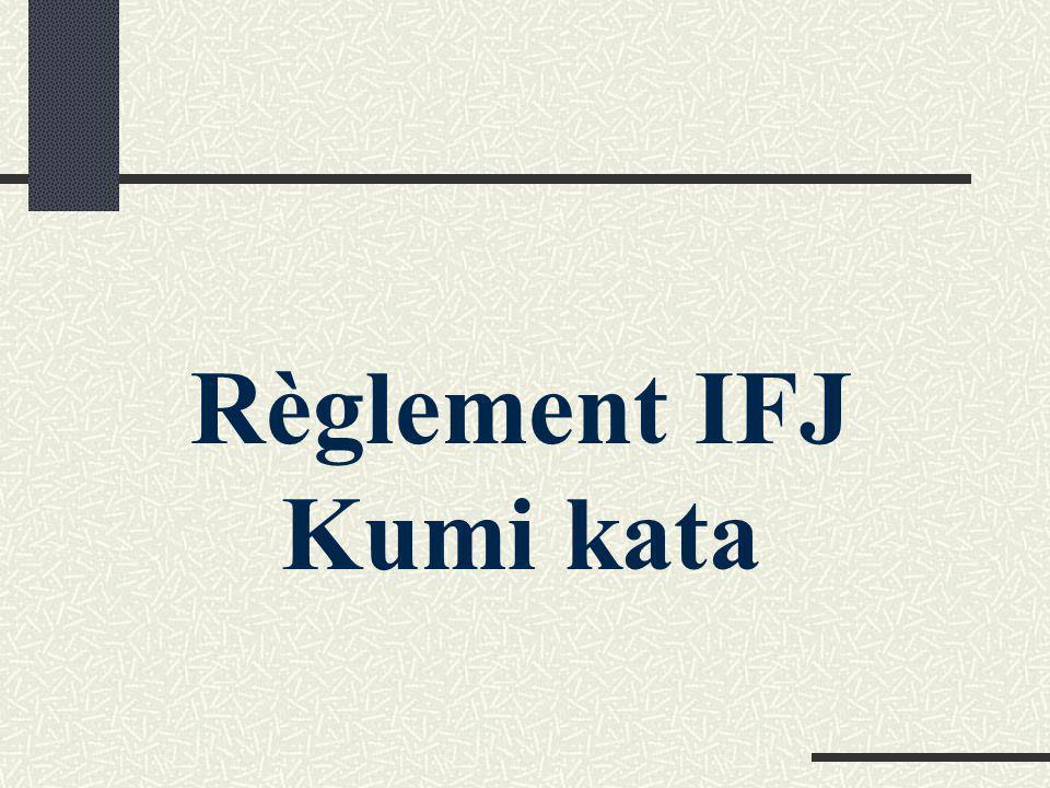 Règlement IFJ Kumi kata