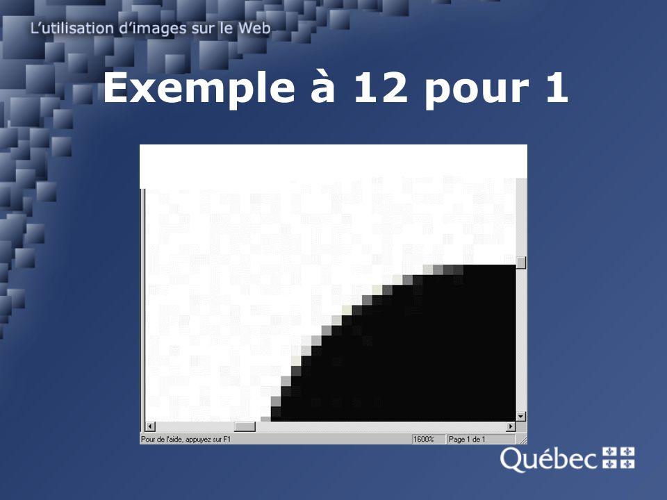 Exemple à 12 pour 1