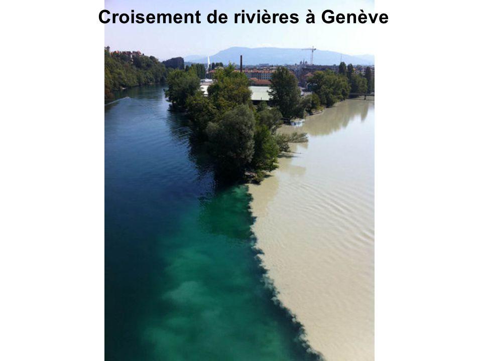 Croisement de rivières à Genève