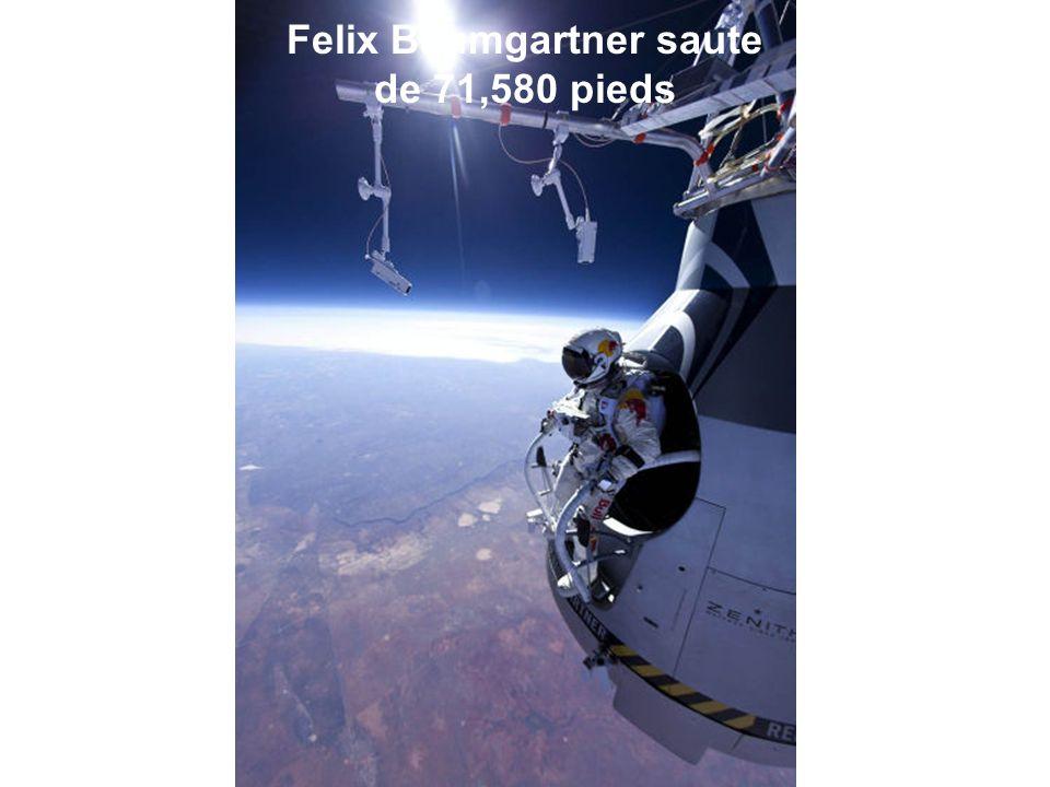 Felix Baumgartner saute de 71,580 pieds