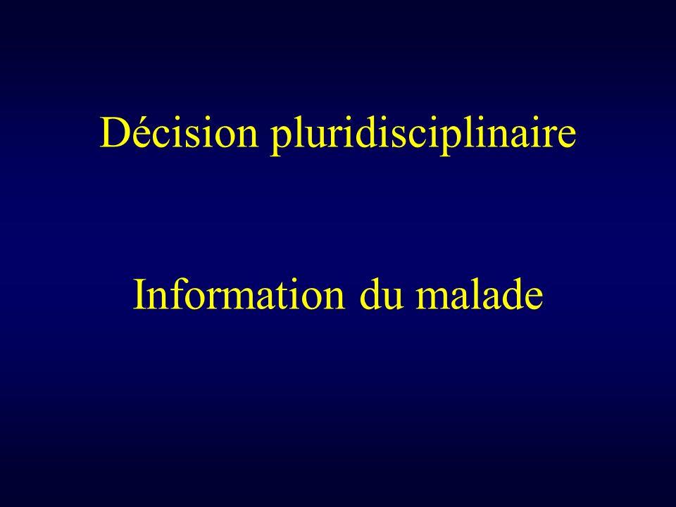 Décision pluridisciplinaire Information du malade