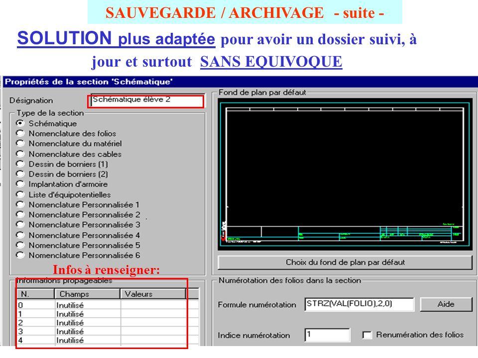 SAUVEGARDE / ARCHIVAGE - suite - Exemple de 2 dossiers de même nom après désarchivage .