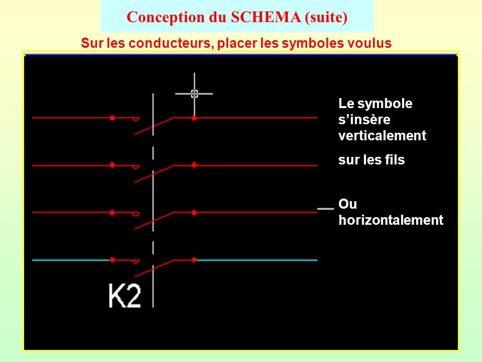 Conception du SCHEMA Choix et tracé des conducteurs