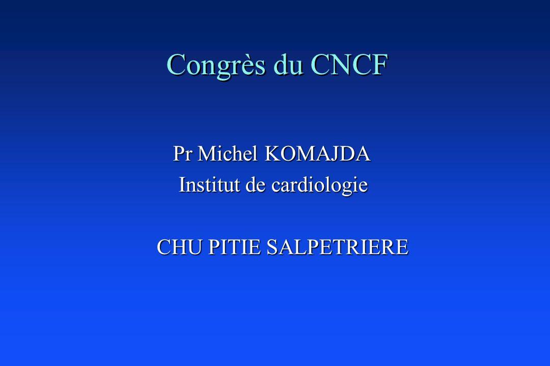 Congrès du CNCF Pr Michel KOMAJDA Pr Michel KOMAJDA Institut de cardiologie Institut de cardiologie CHU PITIE SALPETRIERE CHU PITIE SALPETRIERE