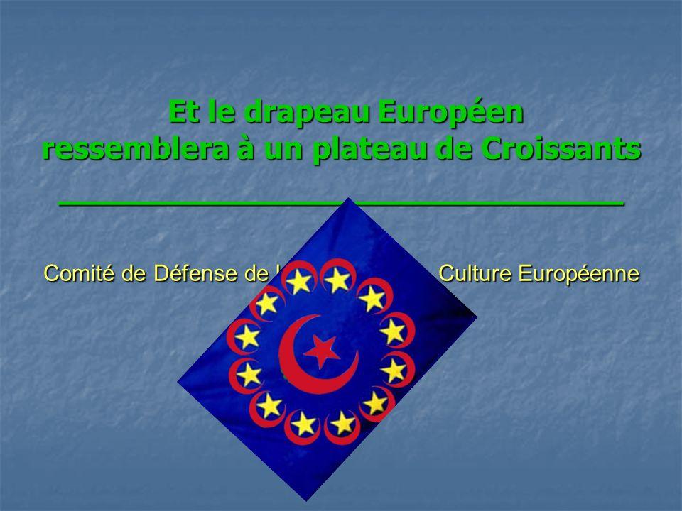Et le drapeau Européen ressemblera à un plateau de Croissants __________________________ Comité de Défense de la Culture Européenne Et le drapeau Européen ressemblera à un plateau de Croissants __________________________ Comité de Défense de la Culture Européenne